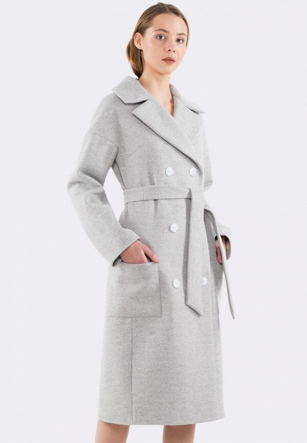 женское пальто cat orange, серое
