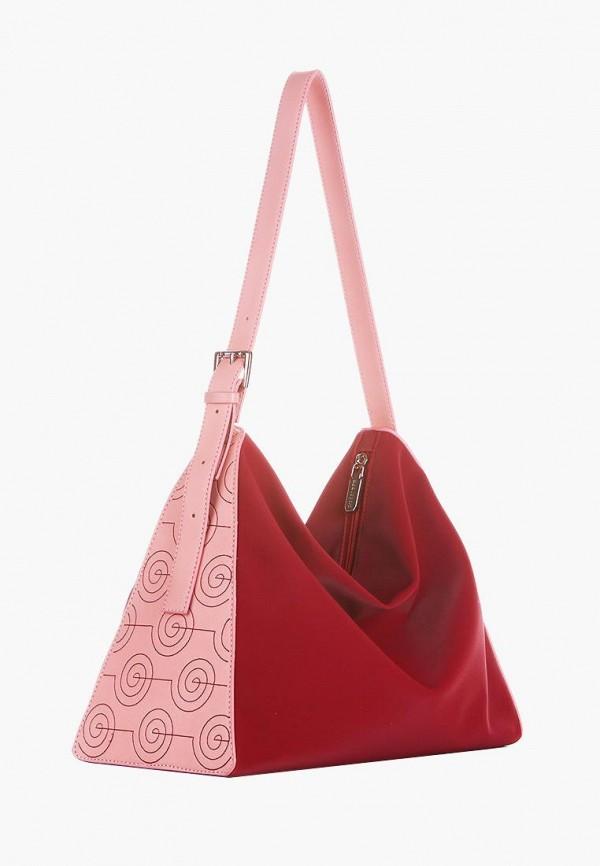 женская сумка alba soboni, бордовая