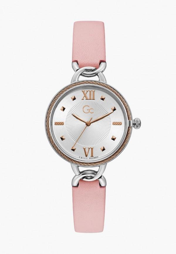 женские часы gc, розовые