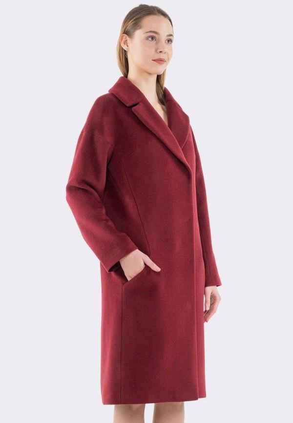 женское пальто cat orange, бордовое