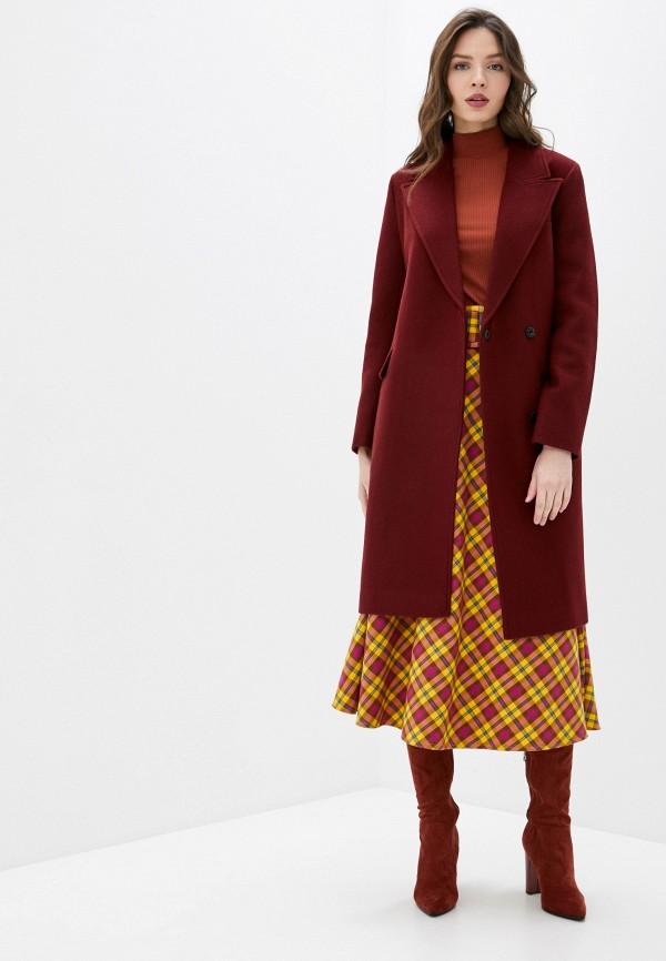 Фото 2 - Пальто Vivaldi бордового цвета