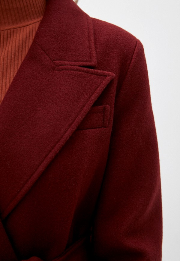 Фото 5 - Пальто Vivaldi бордового цвета