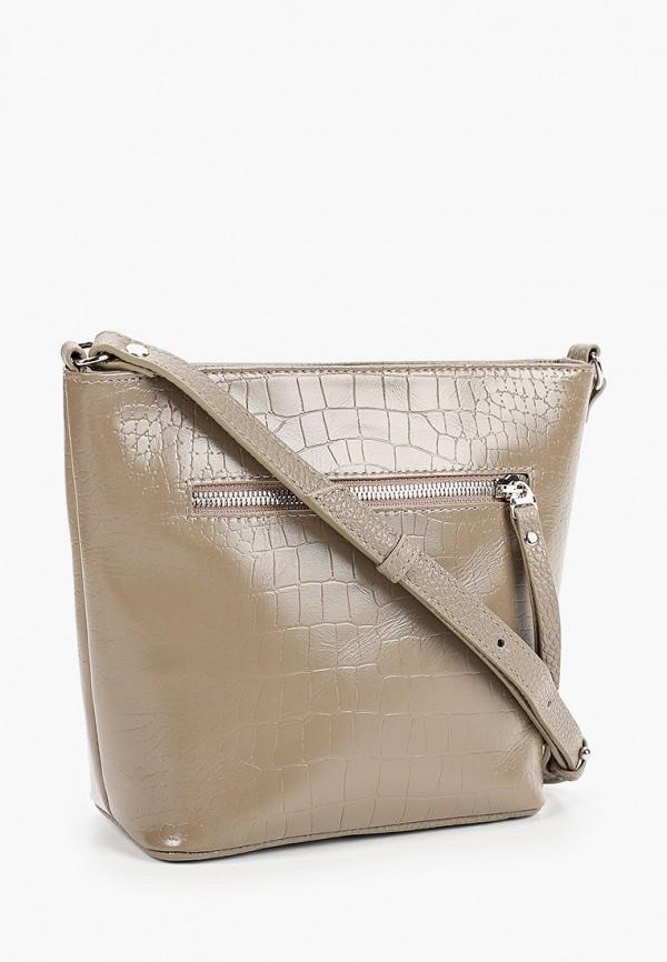 Фото 2 - Женскую сумку Franchesco Mariscotti бежевого цвета