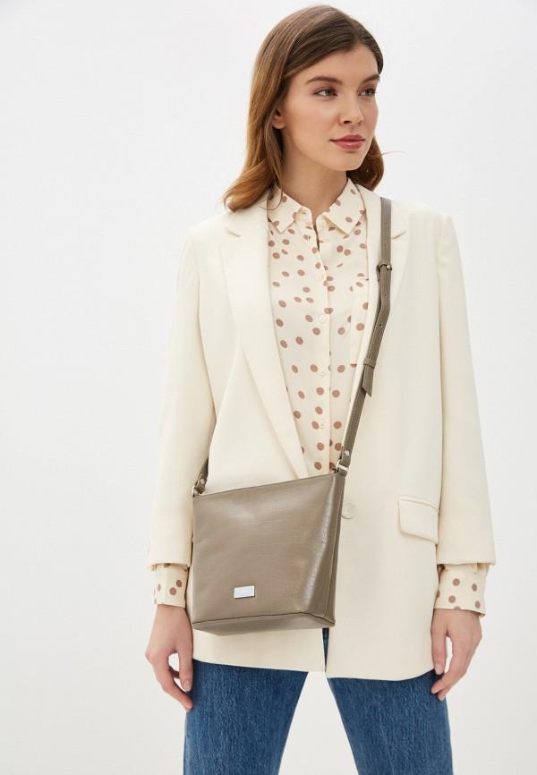 Фото 4 - Женскую сумку Franchesco Mariscotti бежевого цвета