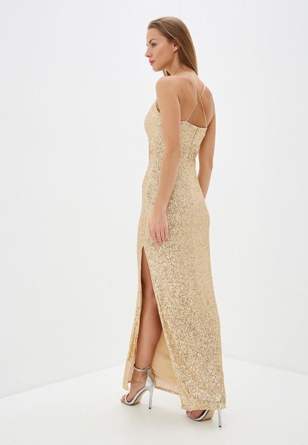 Фото 3 - Женское вечернее платье Joymiss золотого цвета