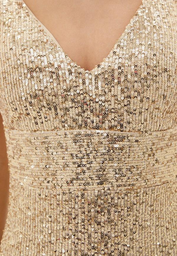 Фото 4 - Женское вечернее платье Joymiss золотого цвета