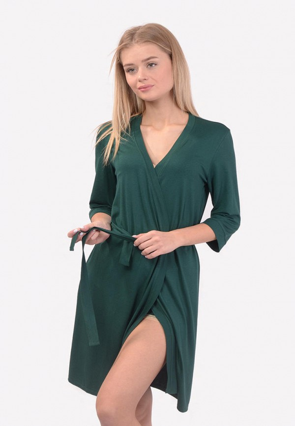 женский халат n.el, зеленый