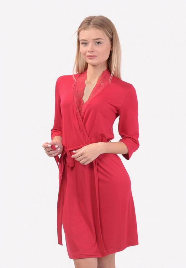 женский халат n.el, красный