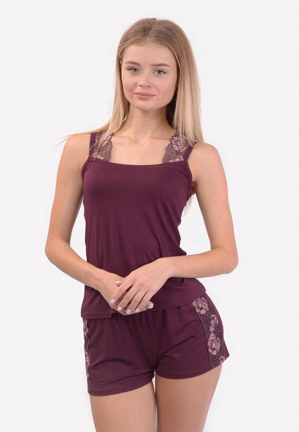 женская пижама n.el, бордовая