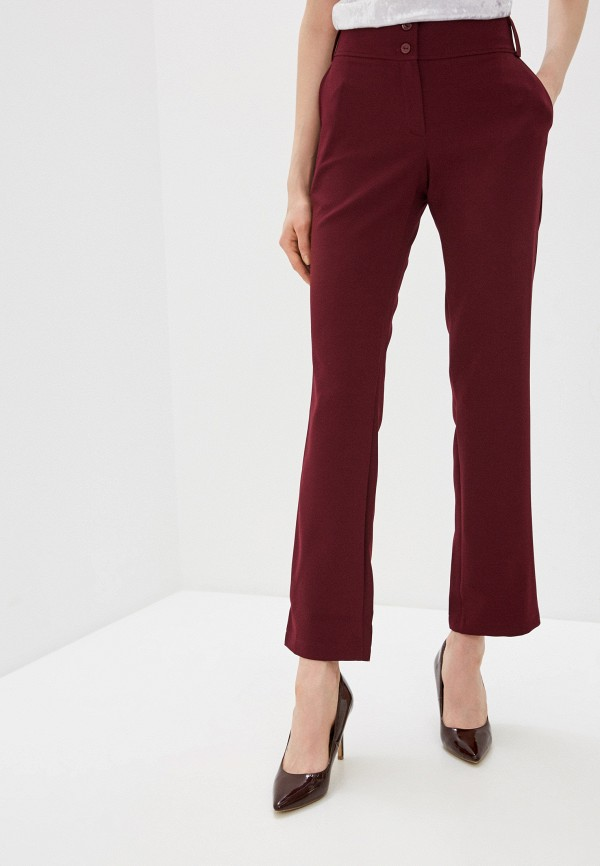 женские повседневные брюки a-a awesome apparel by ksenia avakyan, бордовые