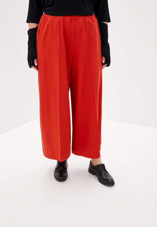 женские брюки клеш w&b, красные