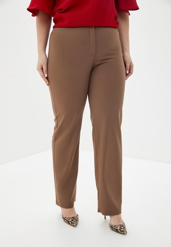 женские классические брюки космея, коричневые