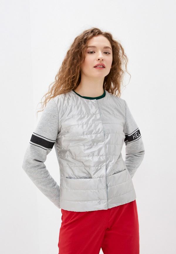 женская утепленные куртка helmidge, серебряная