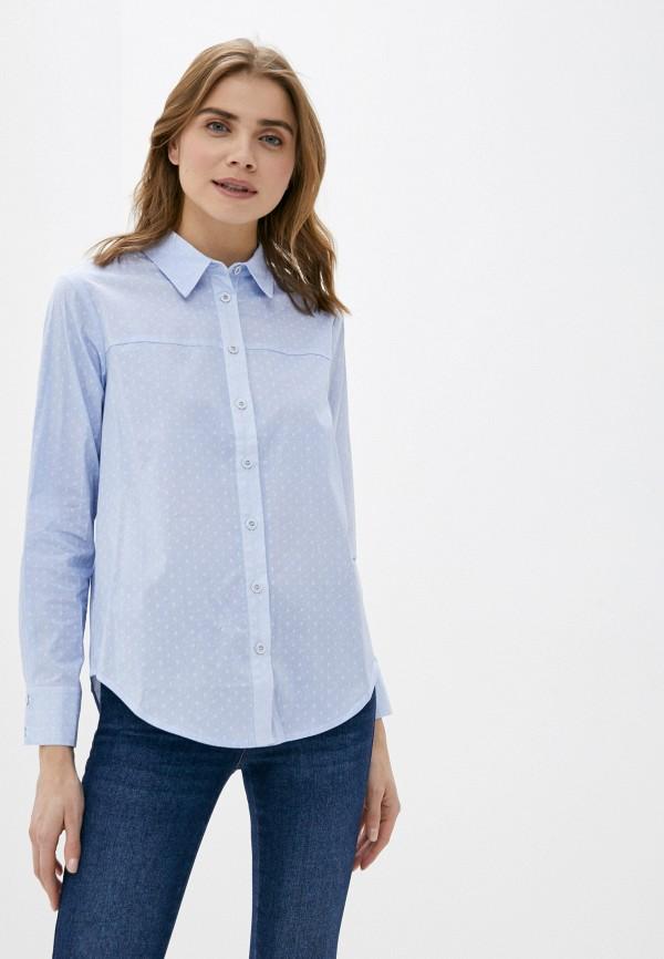 женская рубашка с длинным рукавом marinari, голубая