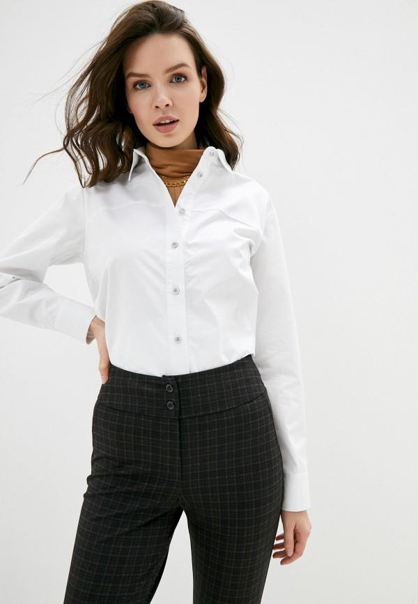 женская рубашка с длинным рукавом marinari, белая