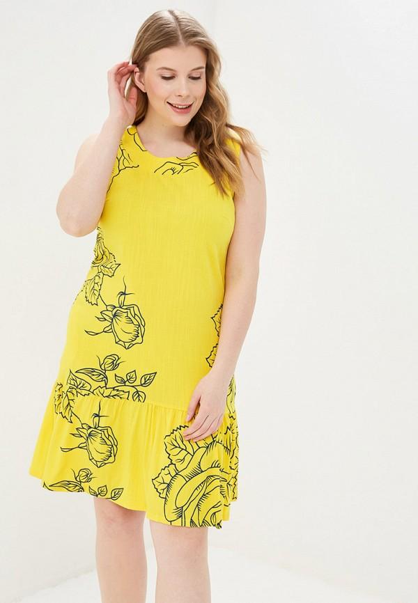 женское повседневные платье louitex, желтое