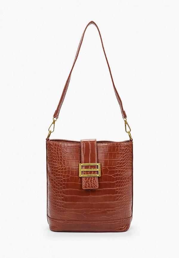 женская сумка через плечо артми, коричневая