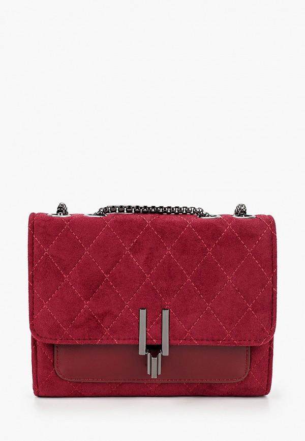 женская сумка через плечо артми, бордовая