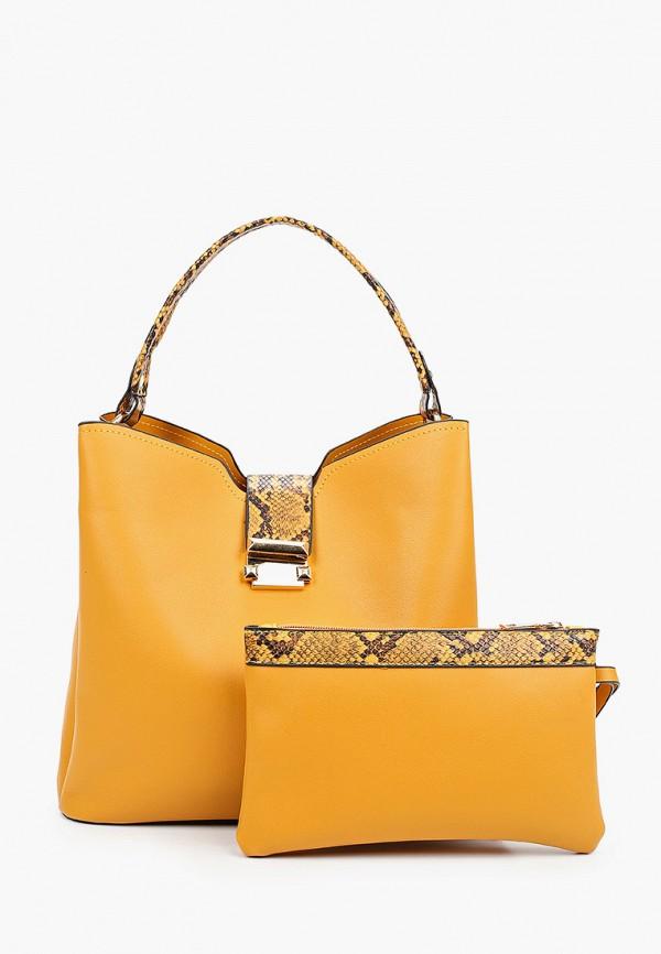 женская сумка с ручками артми, желтая