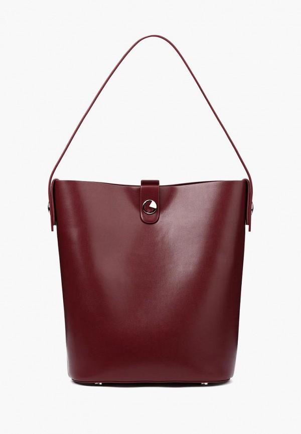 женская сумка-шоперы portal, бордовая