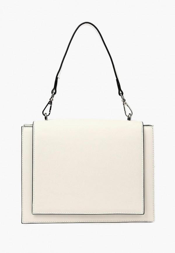 женская сумка с ручками portal, белая