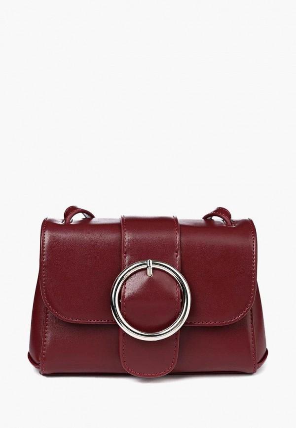 женская сумка через плечо portal, бордовая
