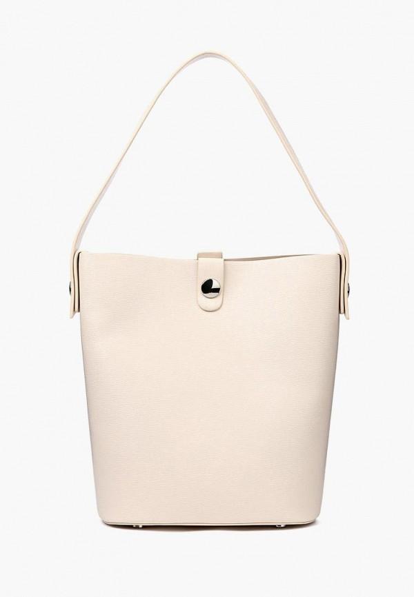 женская сумка-шоперы portal, бежевая