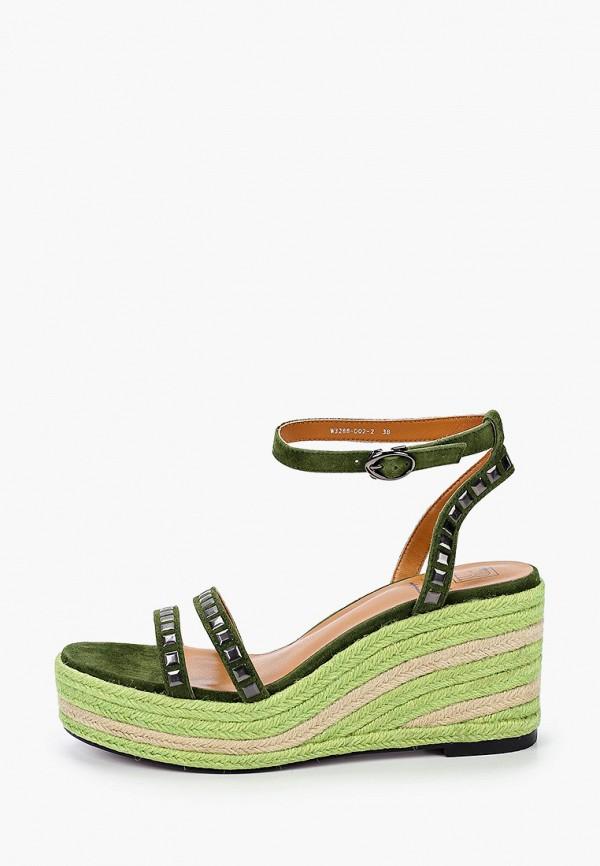 женские босоножки graciana, зеленые