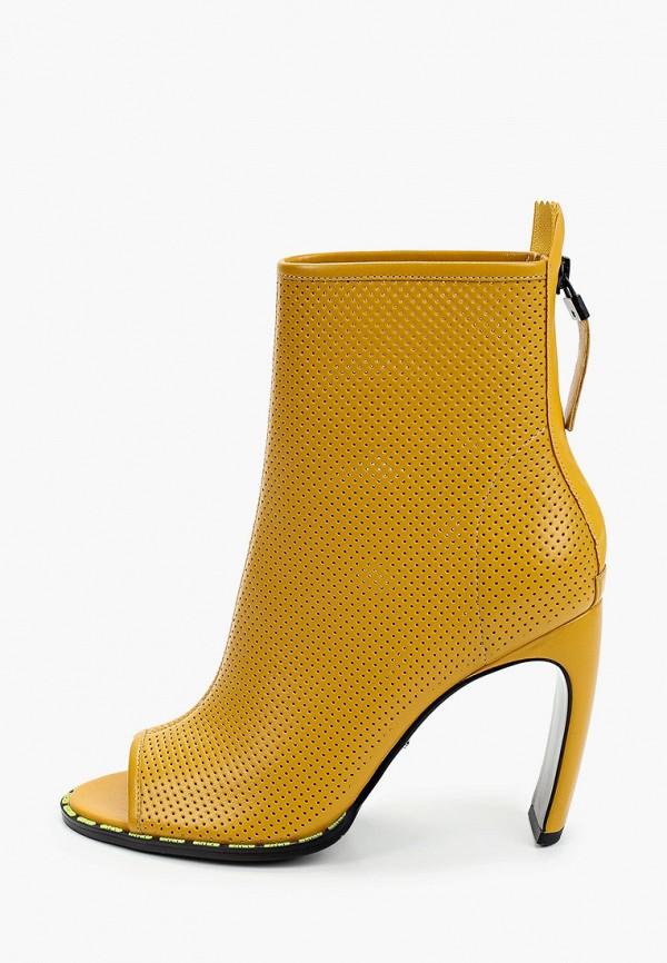 женские ботильоны с открытым носом graciana, желтые