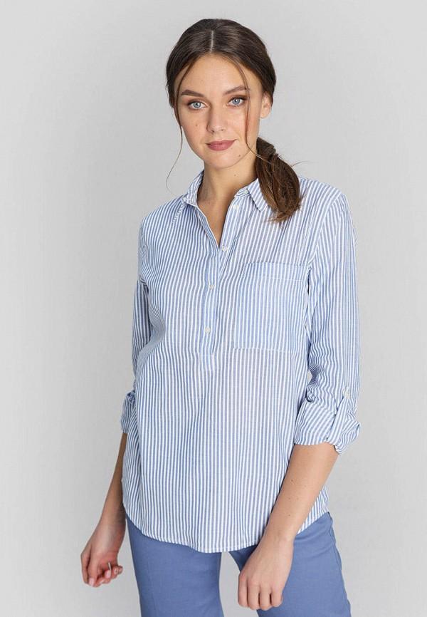 женская рубашка с длинным рукавом o'stin, голубая