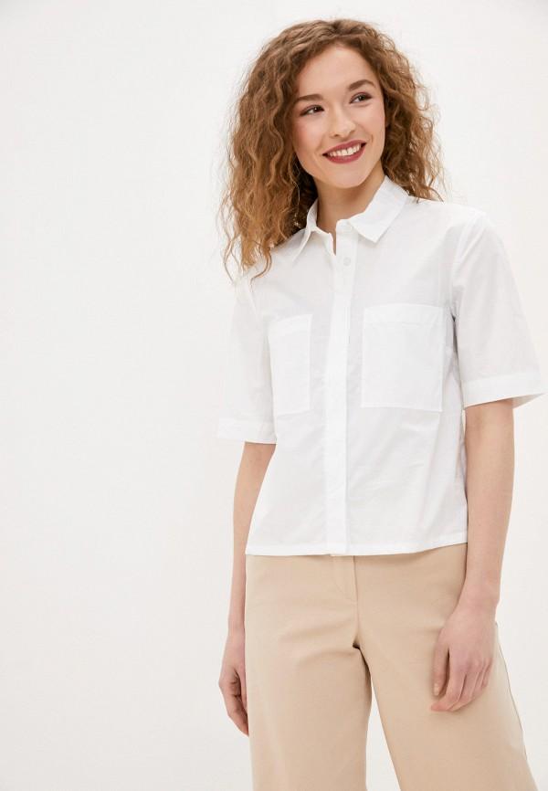 женская рубашка с коротким рукавом o'stin, белая
