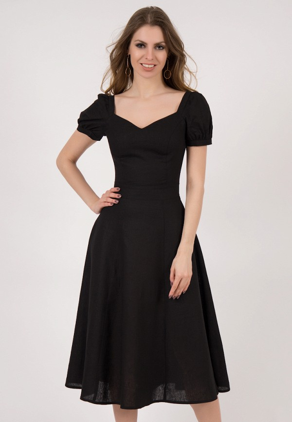 женское платье миди olivegrey, черное