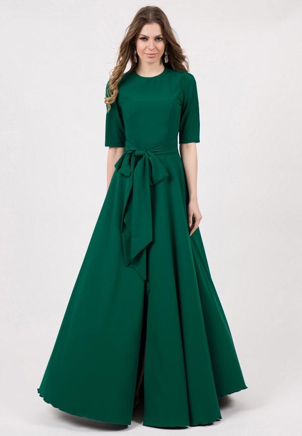 женское платье макси olivegrey, зеленое