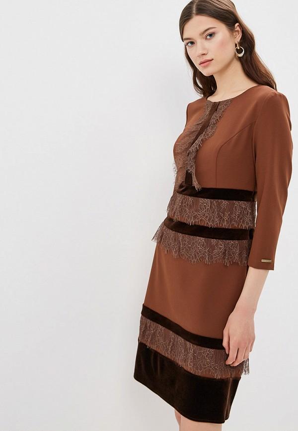 женское платье buono, коричневое