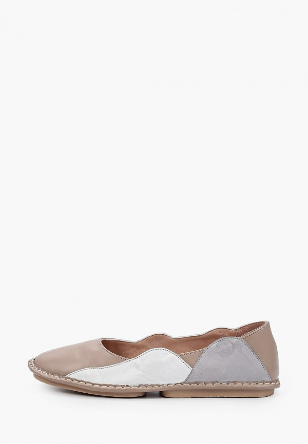 женские туфли с закрытым носом airbox, бежевые