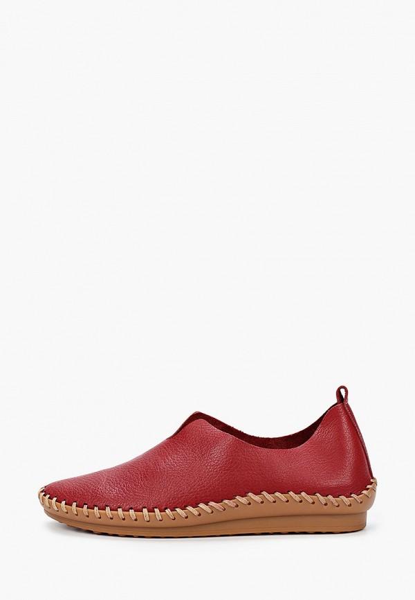 женские туфли с закрытым носом airbox, бордовые