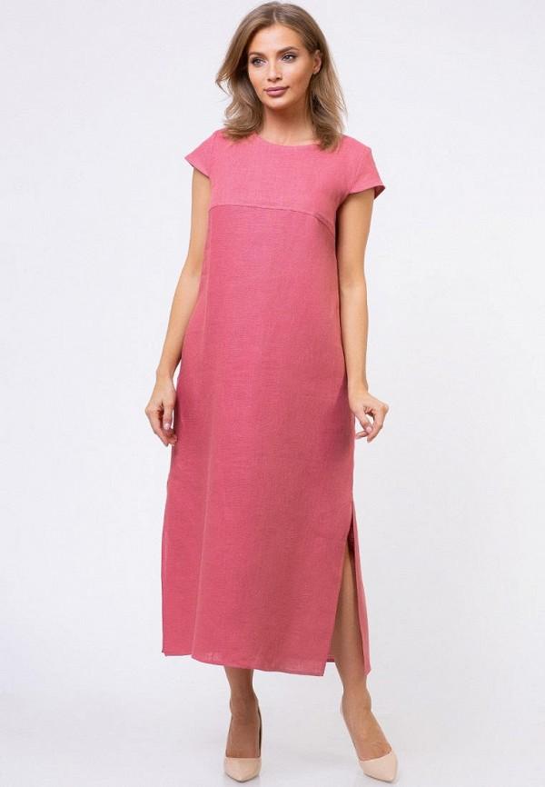 женское платье макси gabriela, розовое