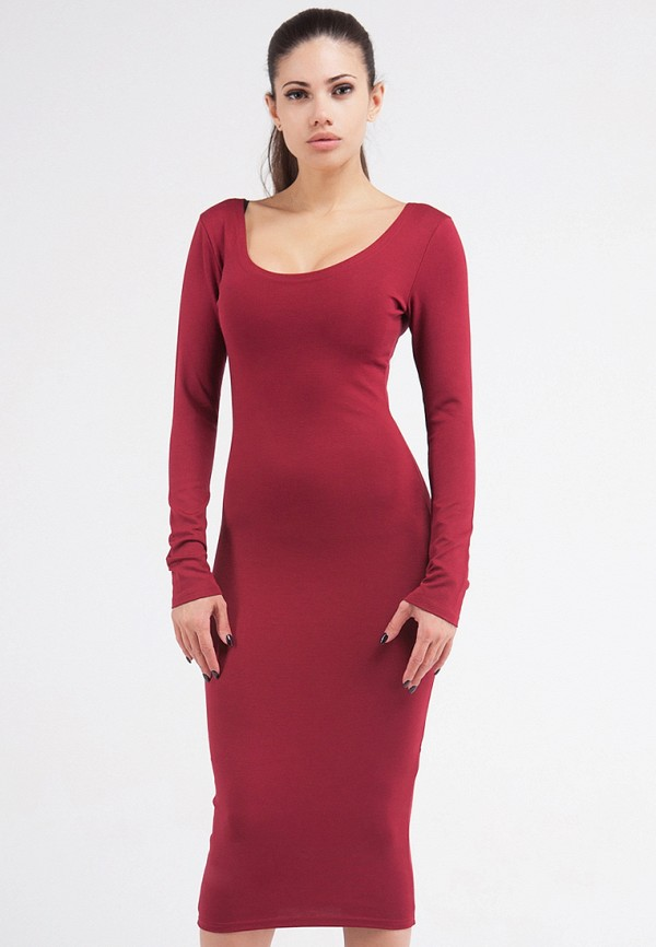 Купить Платье Malaeva, MP002XW0FXWO, бордовый, Осень-зима 2017/2018