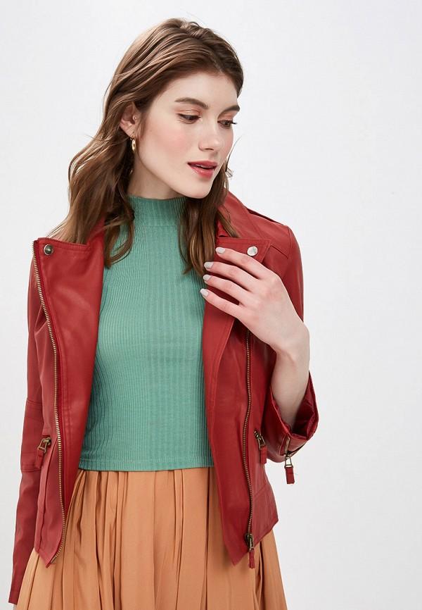 женская куртка moon river, бордовая