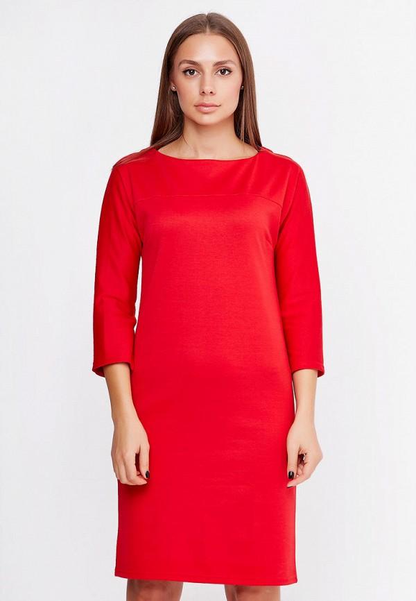 женское платье-футляр sfn, красное