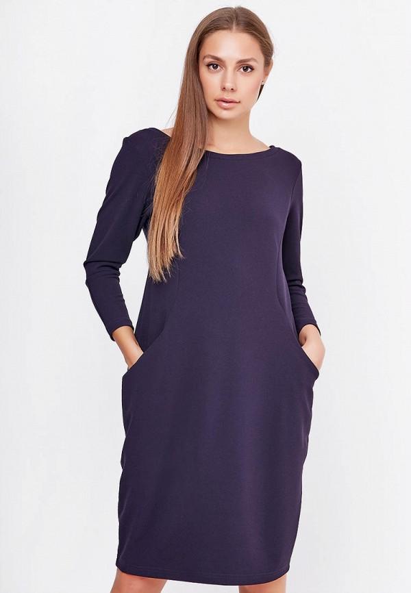 женское платье-футляр sfn, синее