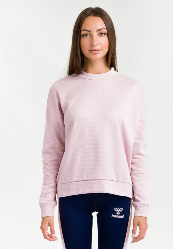 женский свитшот hummel, розовый
