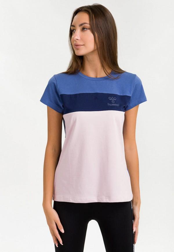 женская спортивные футболка hummel, синяя