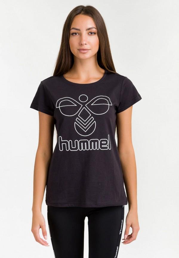 женская спортивные футболка hummel, черная