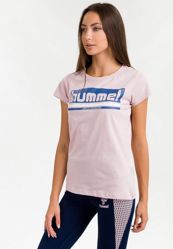 женская спортивные футболка hummel, розовая
