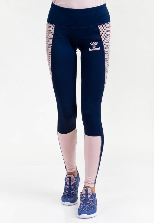 женские спортивные леггинсы hummel, синие