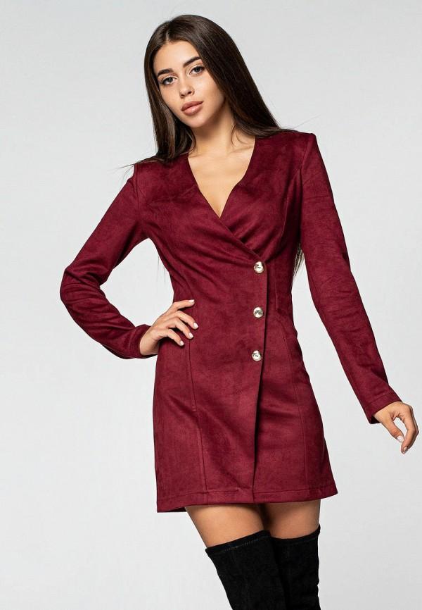 женское платье itelle, бордовое