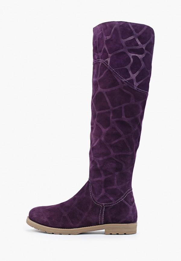 женские ботфорты enzo logana, фиолетовые