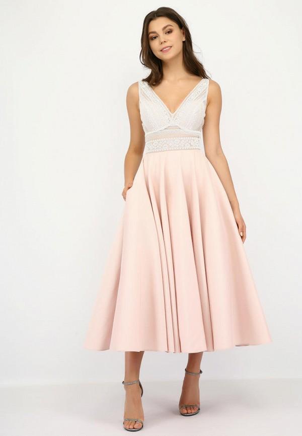 женское вечерние платье miodress, розовое