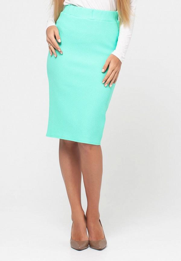 женская узкие юбка текстиль хаус, бирюзовая